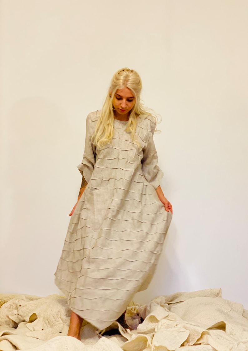 Wedding  Linen Bohemian Long Dress ~ Bridesmaid Dress ~ Godness Dress ~ Boho Tunic Dress ~ Aiste Anaite ~ Simple Women Dress