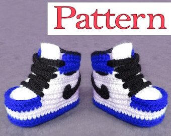 72d347ce9608 Jordan Shoes Crochet Pattern for crochet baby booties