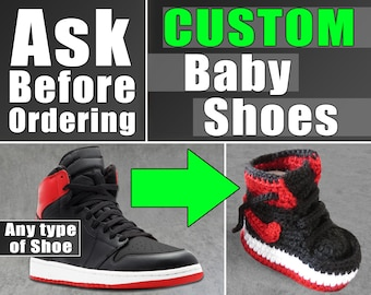 Custom baby shoes , dope custom baby shoes , baby shoes , custom shoes , ith baby shoes , crochet baby shoes , baby shower invitation shoes