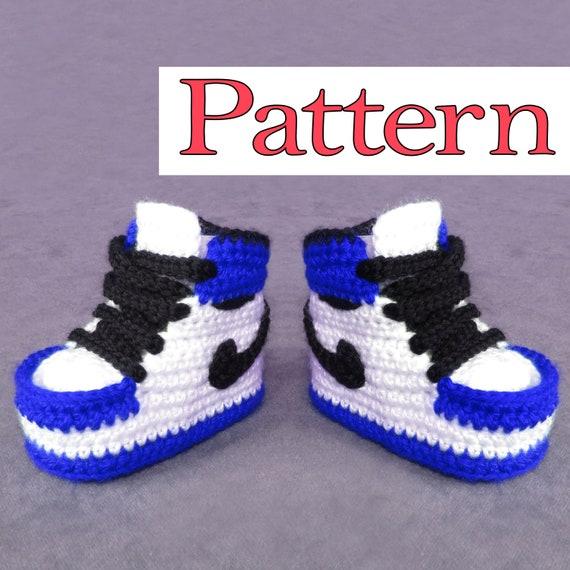 Jordan Shoes Crochet Pattern for crochet baby booties crochet | Etsy