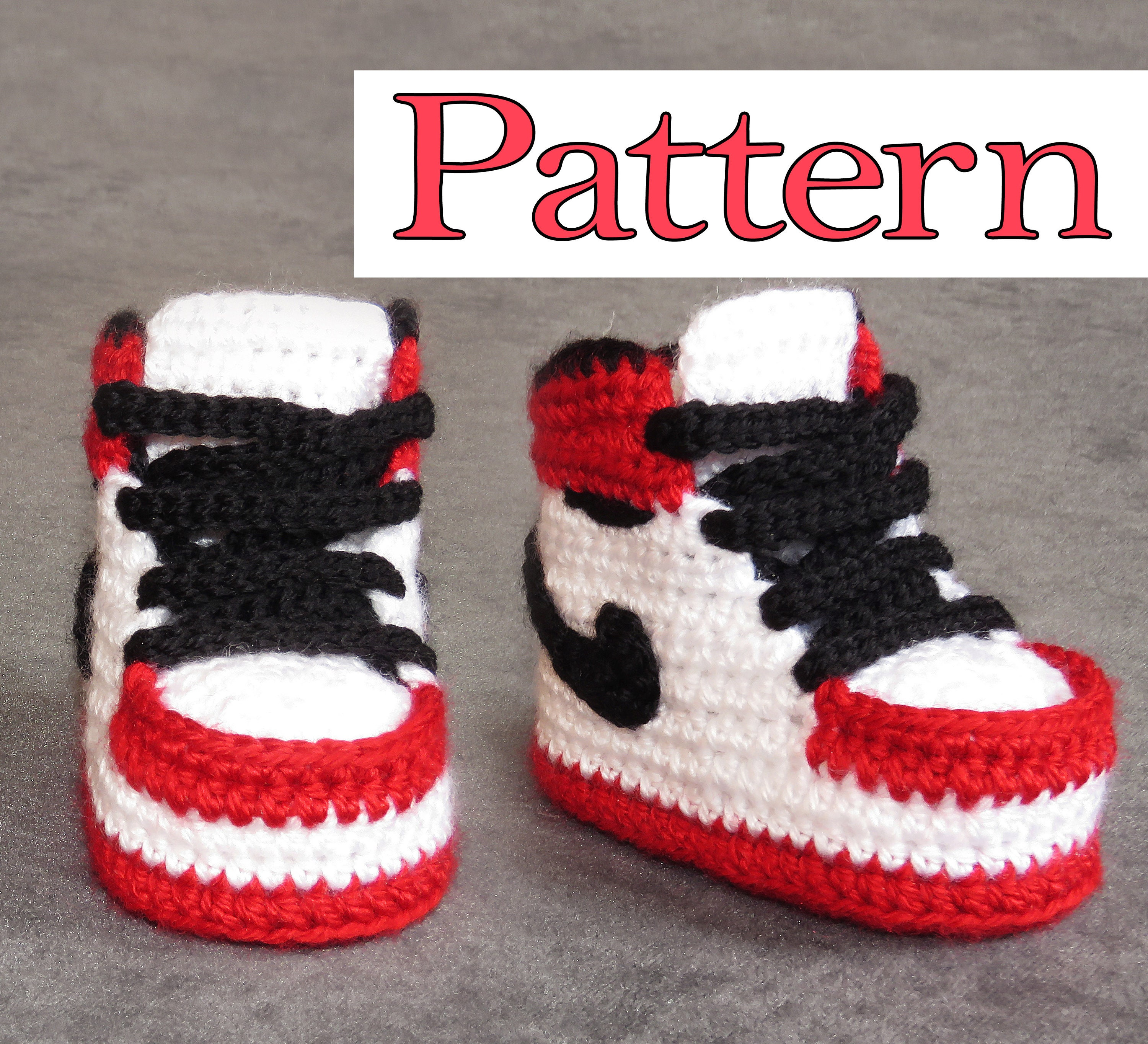ee78f2587dd9 Air Jordan Crochet Pattern for crochet baby booties crochet