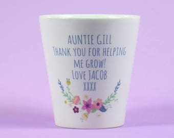Teacher Flower Pot Personalised flower Pot Thank you gift Teacher Gift Appreciation Present Thank you for helping me grow~Gift for her