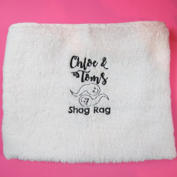 After Sex Mini Towel Cum Cloth. Personalised Embroidered Vag Rag