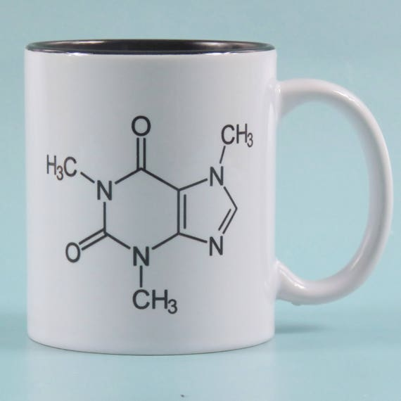 Chemical Symbol For Coffee Mug Science Cup Black Inner Etsy