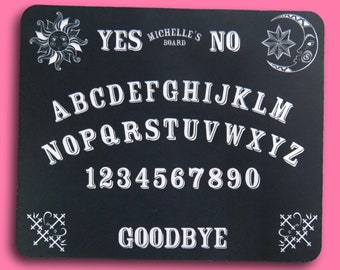 Spirit Ouija Mouse Mat personalised fabric mouse pad Computer accessories computer gift Personalised Gothic Theme Halloween  Ouija Board