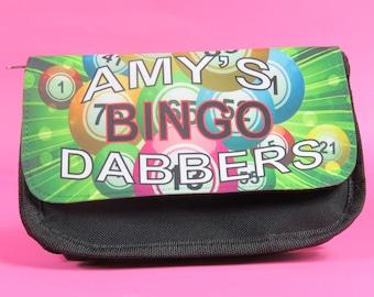 Personalised bingo dabber, bingo marker bag, made to order, custom pens
