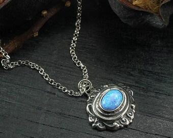 Halsketten & Anhänger Uhren & Schmuck Choker Necklace With Ornate Antique-style Pendant Diamante Torqouise 180