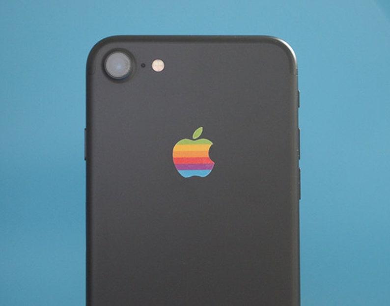 Set of 2 Retro vintage apple rainbow logo iPhone 11 iPhone image 0
