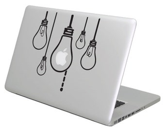 Bulbs MacBook Decal sticker. Choose your size.