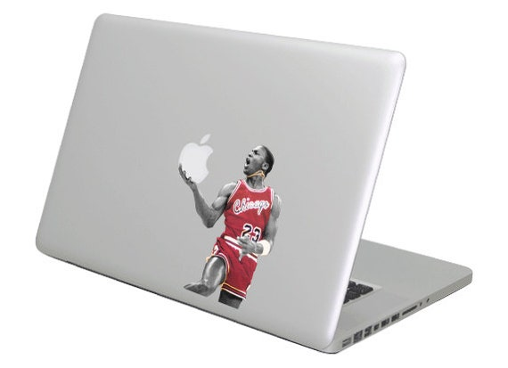 buy popular b0155 e0492 Michael Jordan MacBook Decal sticker. Choose your size. Laptop   Etsy