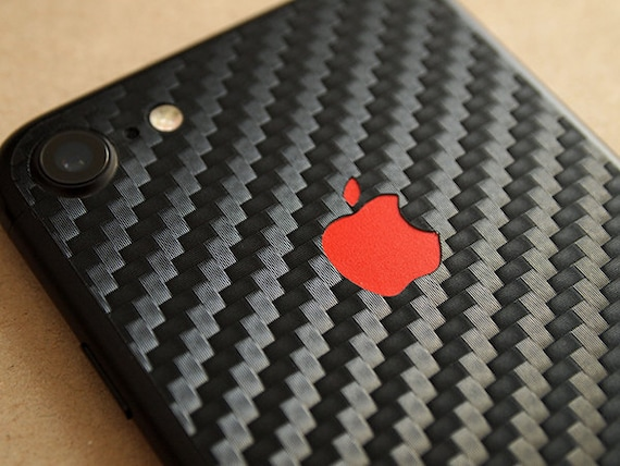 huge discount 071b5 99007 iPhone 7, iPhone 8, iPhone X, iPhone XR carbon fiber skin, 3M, change your  apple logo color!