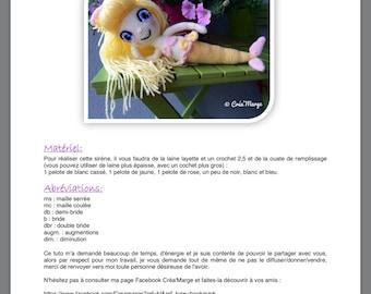 Sirène en crochet : tuto en français by Creamarge