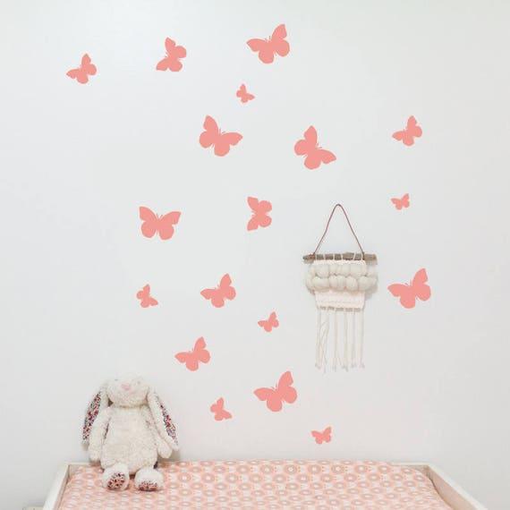 butterflies wall decal cute butterflies with dots wall | etsy