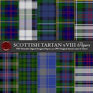 decoupage,craft squares Instant Download Paper Crafts collage sheet scottish clan tartan squares Colorful TARTAN PLAIDS