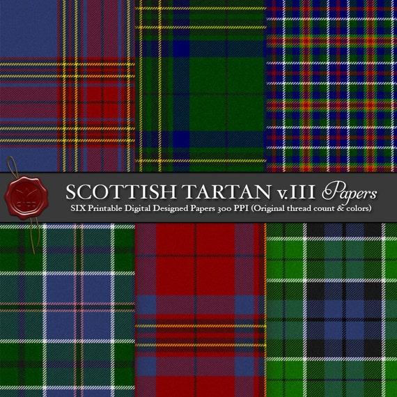 Digital Printable Scottish Tartan Plaid Lowland Clan Leslie Etsy