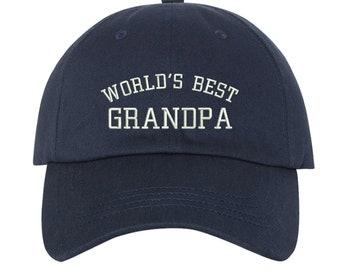 79c80bc88146fe Worlds Best Grandpa Baseball Cap, Fathers Day Hat, Gift for Grandpa, Papa  Hat, Grandfather Baseball hat, Gift for dad, Dad Hat for Grandpa