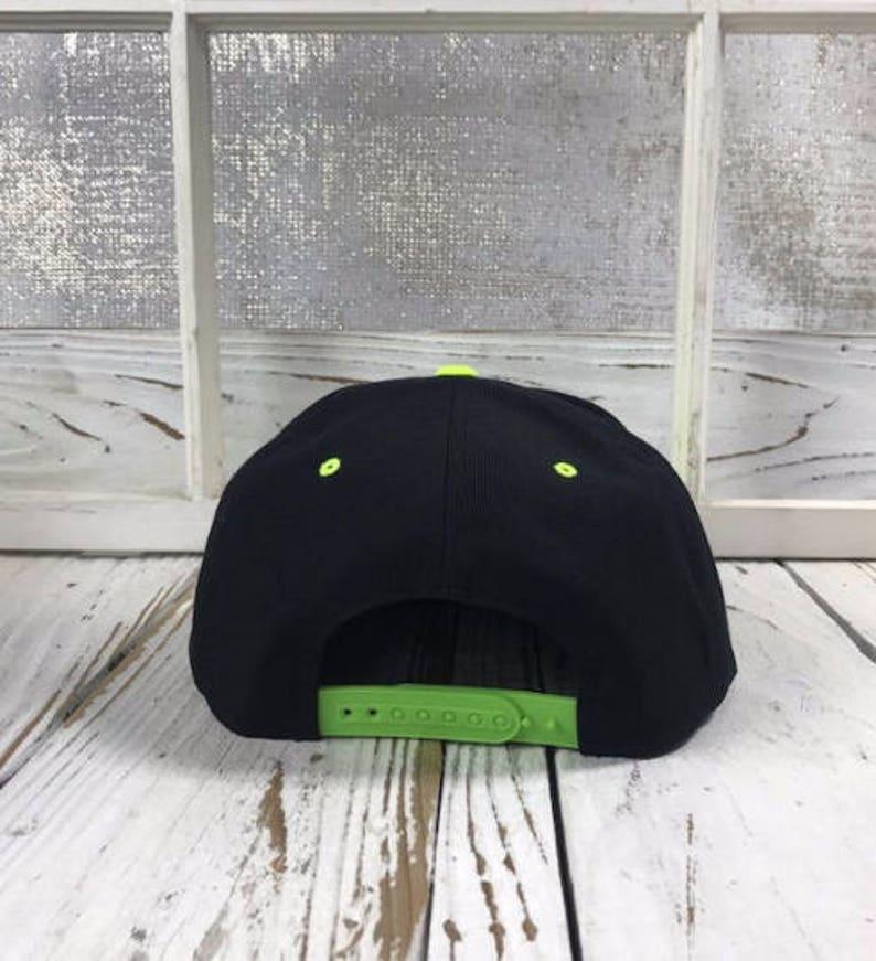 ed83af57759436 KILLIN' IT Black/Neon Pink Snapback Hat Sunhat | Etsy