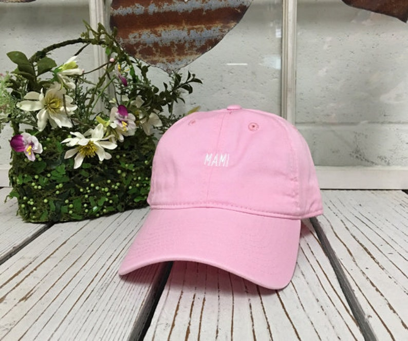 d6bd90fa61bda MAMI Baseball Hat Low Profile Embroidered LIGHT PINK Baseball