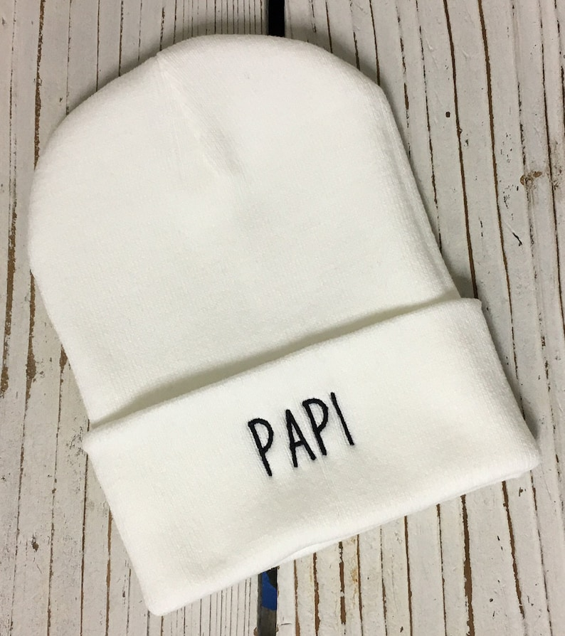 PAPI Embroidered Beanie Cuffed Cap Multiple Colors