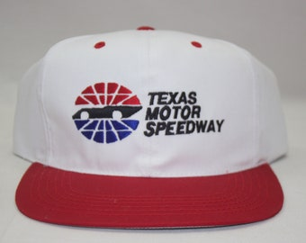 b64347c1370dd2 90s Texas Motor Speedway Snapback Hat Cap Nascar Racing New With Tags