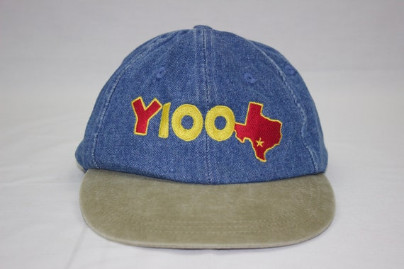 90s KCYY Country Music Station Y100 Denim Strap Back Baseball