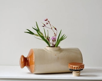 Stoneware hot water bottle
