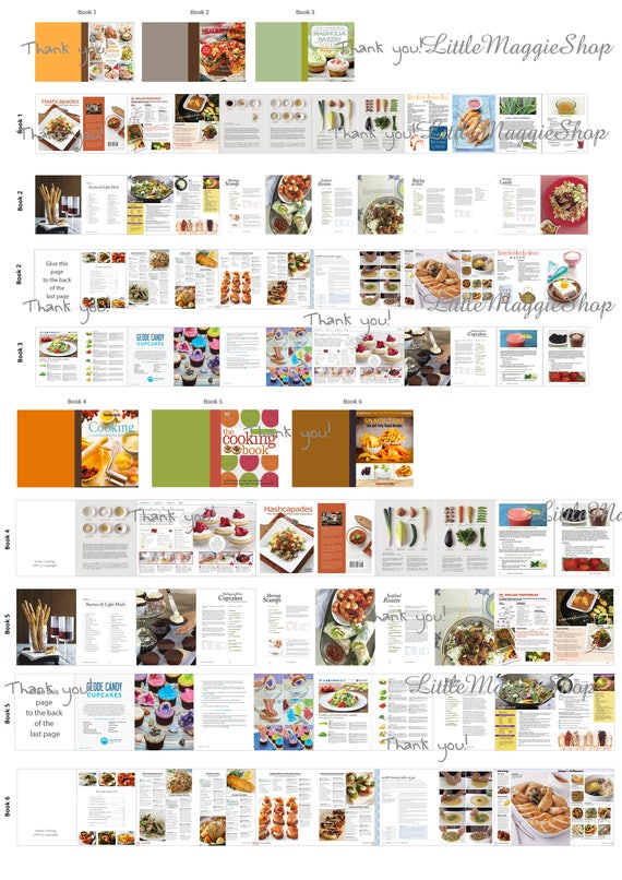 photo relating to Miniature Books Printable referred to as 6 Miniature cooking textbooks with webpages dollhouse printable sheet Obtain