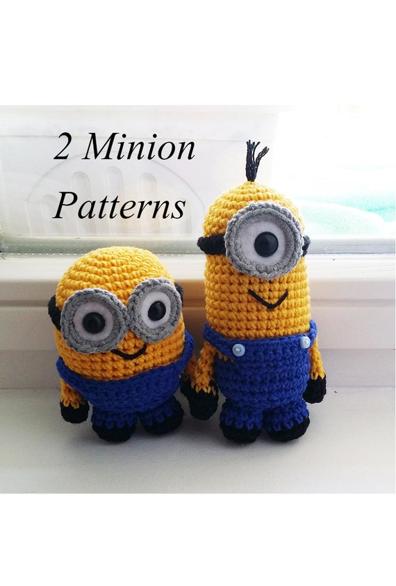 Crochet Minion Amigurumi Pattern PDF (2 patterns included)