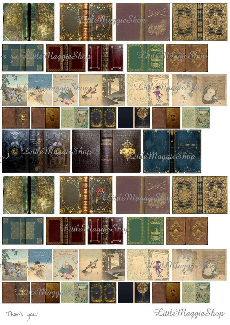 image relating to Printable Book Covers known as Traditional E book Handles Mounted, 1:12 scale downloadable printable addresses for do it you dollhouse guides Down load