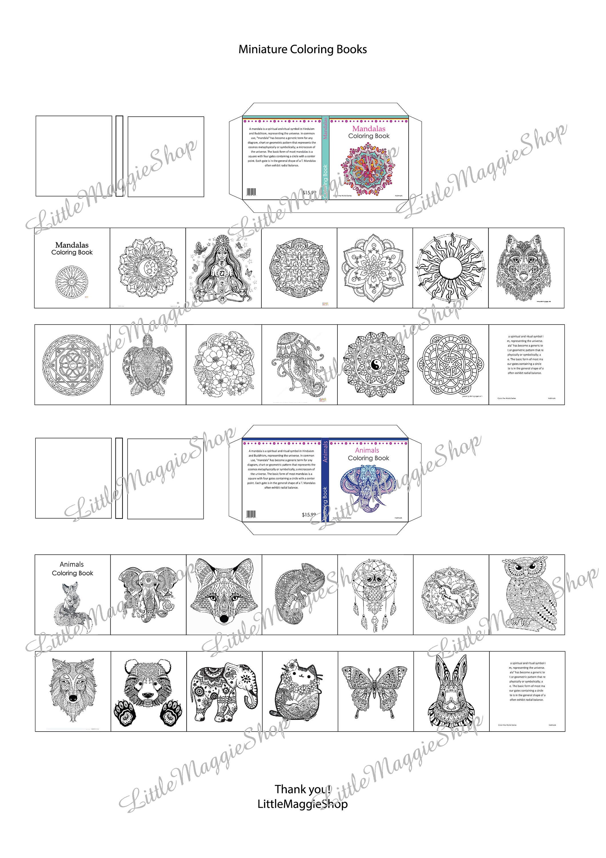 picture regarding Shape Books Printable titled 2 Coloring Publications with internet pages - Dollhouse Miniatures and Barbie measurement printable sheets, Obtain, coloring for older people