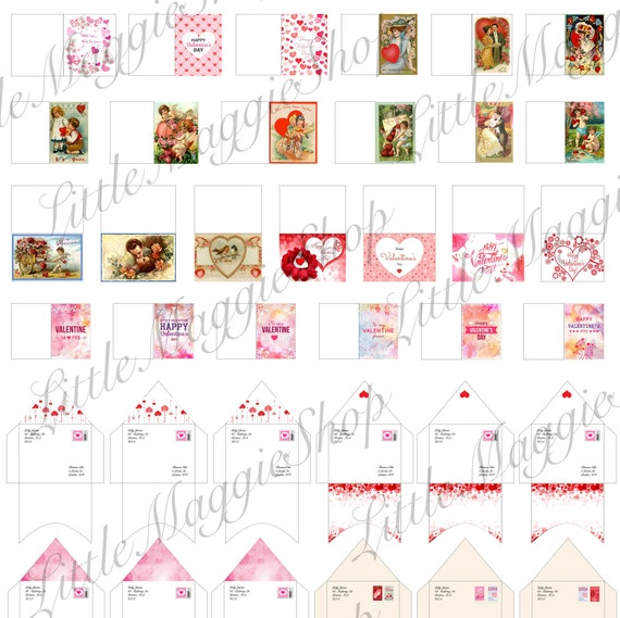 Printable Valentines Day Dollhouse Miniature Greeting