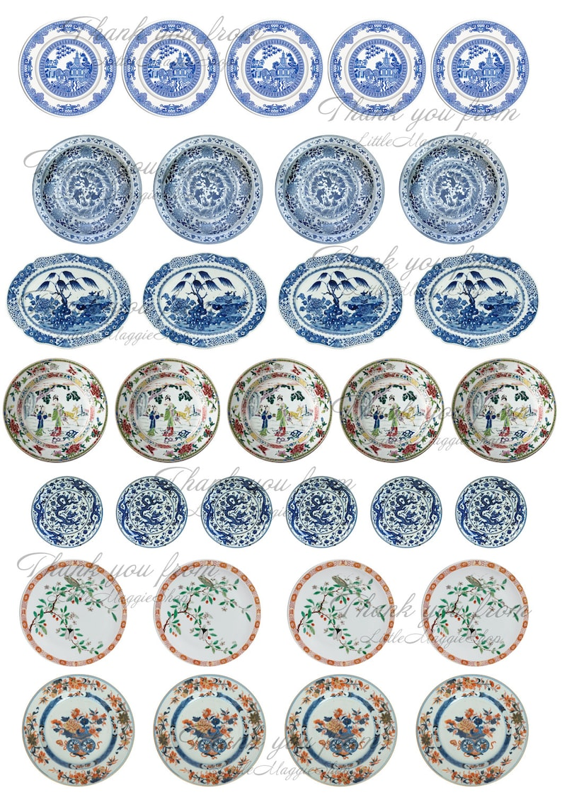 photo about Printable Plates referred to as Dollhouse printable plates 1:12 Barbie dolls, Chinese porcelain Obtain