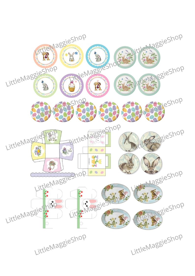 picture regarding Printable Plates called Easter Dollhouse printable plates and packing containers 1:12 Barbie dolls sized, Obtain
