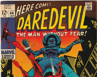 Daredevil 48 VF Gene Colan Art Stan Lee Stilt Man Appearance First Series Silver Age Marvel Comic Book January 1969 Anniversary Gift for Him