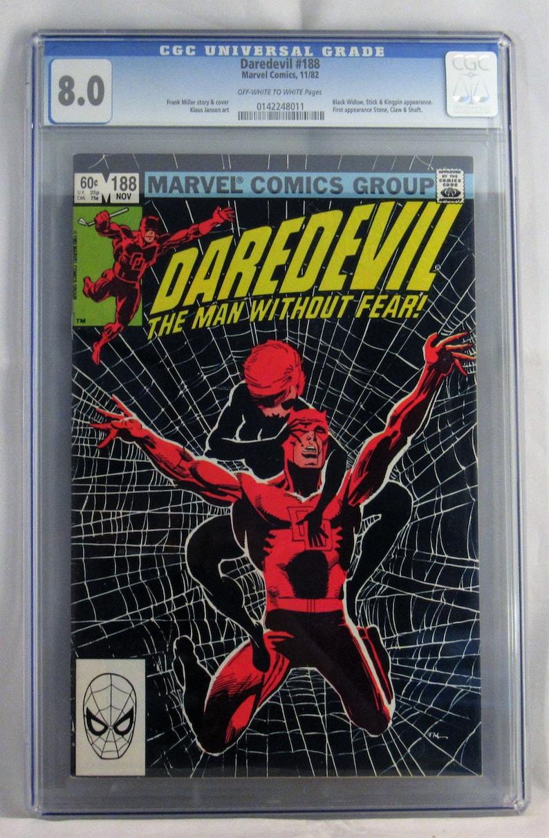 Daredevil 188 VF 80 CGC Certified Elektra Black Widow Stick