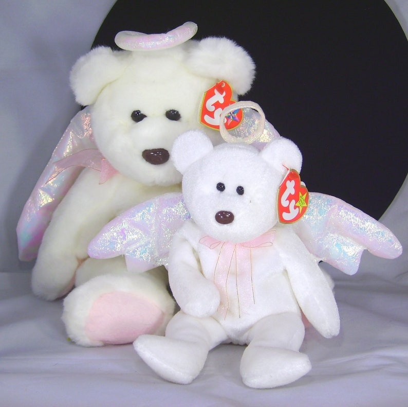 b84514d4a55 1990s Ty Original Beanie Babies Halo Angel Bear Plush Baby and