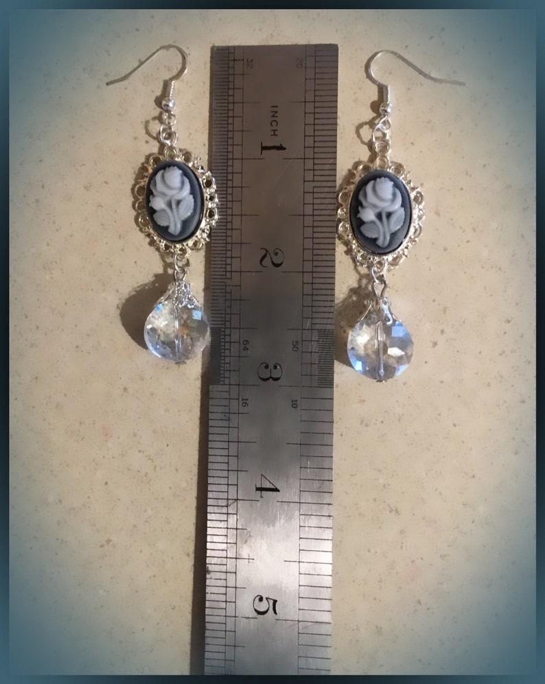 Cameo Drop Earrings