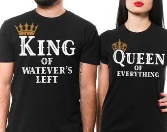 08bdff0078cc Couple Matching Shirts King Queen Funny Unisex Anniversary Husband Wife  Girlfriend Boyfriend T-shirt Birthday Gift Shirts