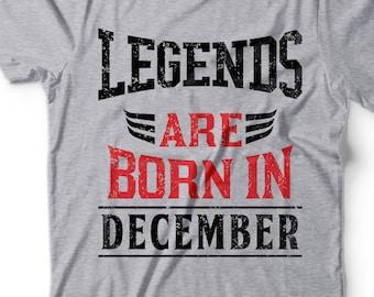 5801782f2 December Tee Shirt Born In December Birthday Gift T-shirt Gift for Birthday  December Born Tee Shirt Gift Shirt Gift Funny T-shirt