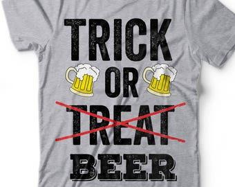Halloween Drinking T-shirt Funny Tee Beer T-shirt Halloween Party T-shirt
