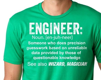 49afedf31d Engineer T-Shirt Gift For Engineer Funny Profession T-Shirt