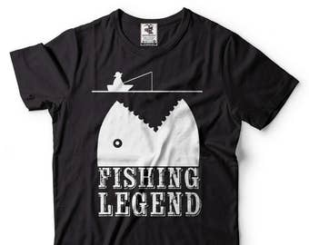 Fishing Legend T-Shirt Funny Fisherman Fishing Tee Shirt