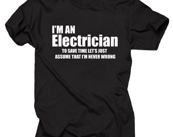 29ab7063 Electrician T-shirt Gift for Electrician Professional Lineman