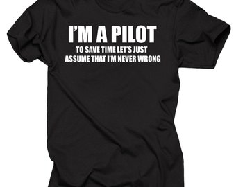 Pilot Gifts Donald Trump T shirt Funny Gifts For Pilot Aviation Plane Pilot Tee