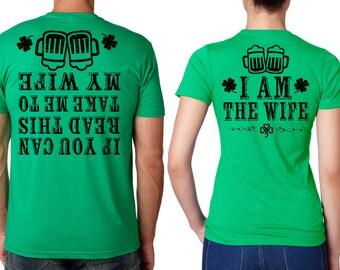 94b59db70 Couple Green T-shirts Funny T-shirt St Patrick's St Paddy's Day Couple  Matching shirts Funny Drinking party Pub T-shirts Saint Paddy's Day