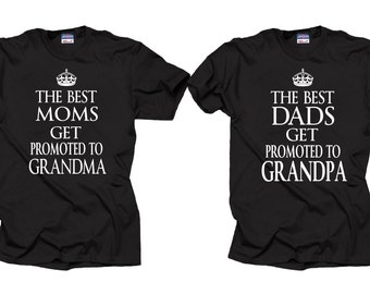 Grandpa Grandma T Shirts Grandparents Tees Gift For Etsy