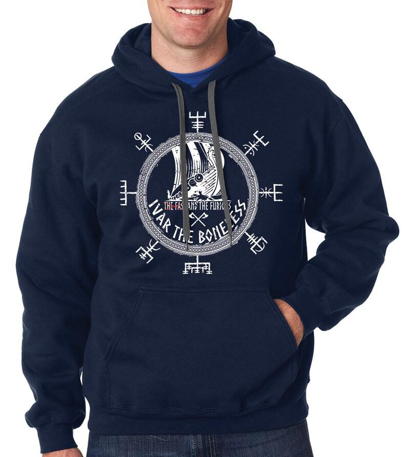 Ivar The Boneless Hoodie Vikings Hooded Sweatshirt Valhalla Odin Symbol Hoodie