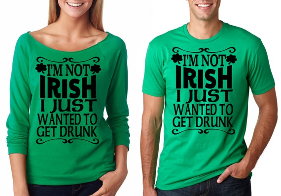 84f24e924 Green couples St patrick's day shirts french terry 3/4   Etsy