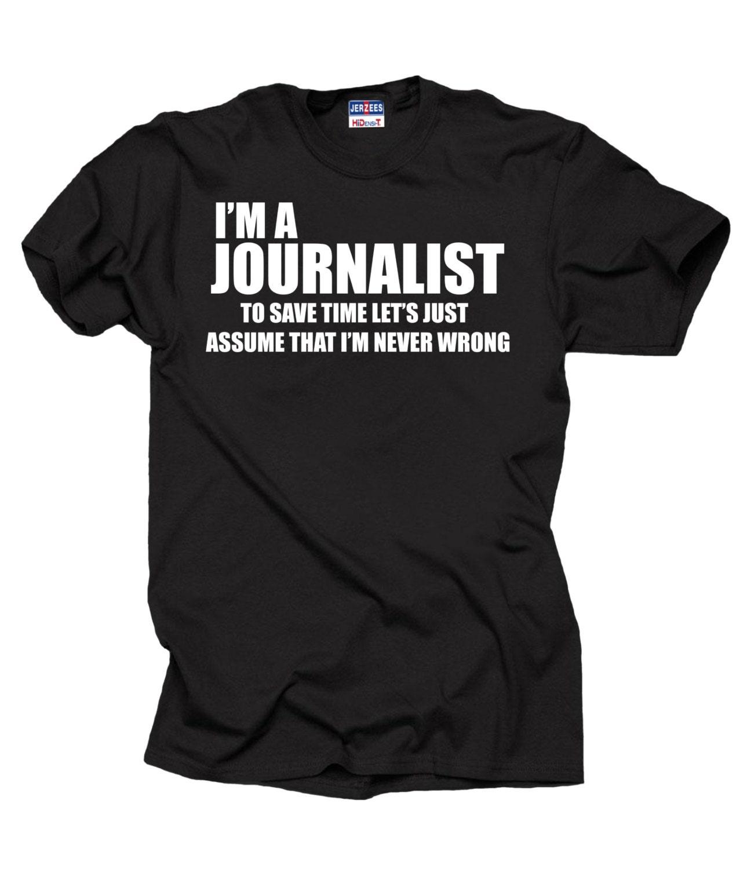 Journalist T-shirt lustige Journalist t-shirt Geschenk für   Etsy
