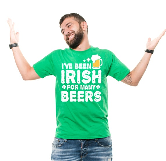 ac2fe9592 Beer Drinking T-shirt Saint Patricks Day Irish T-Shirt Funny | Etsy
